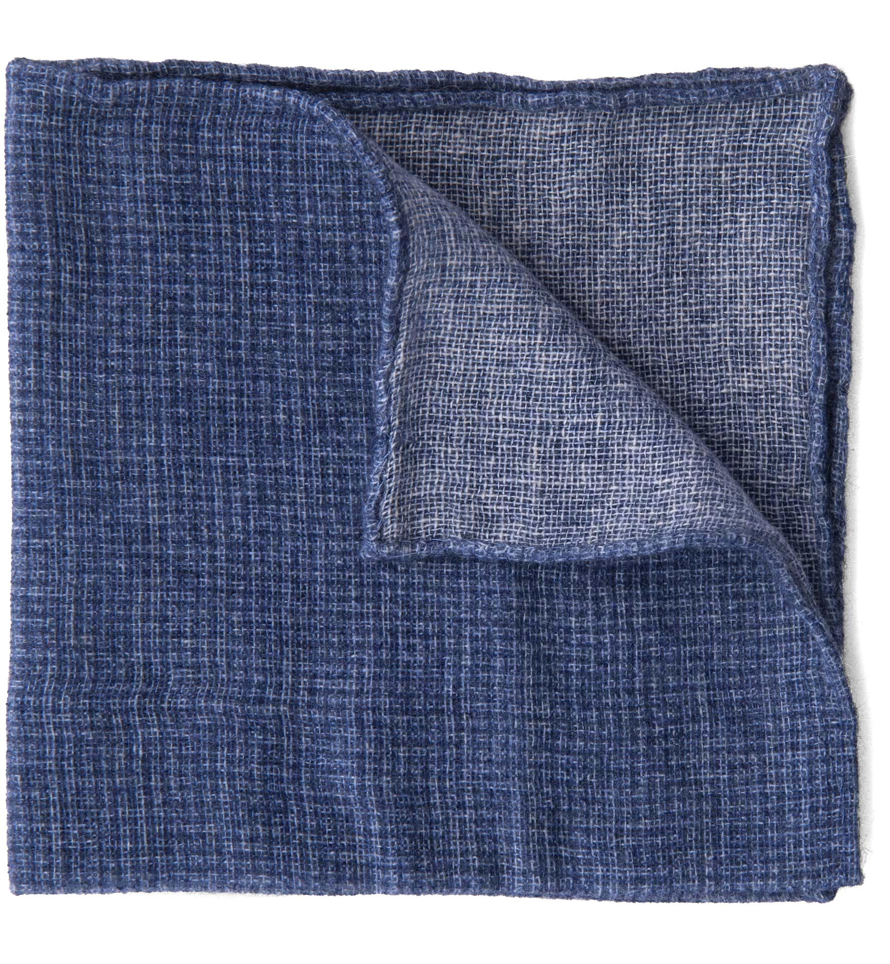 Zoom Image of Ocean Cashmere Micro Check Pocket Square