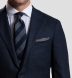 Zoom Thumb Image 3 of Grey Cashmere Micro Check Pocket Square