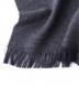 Zoom Thumb Image 1 of Charcoal Herringbone Wool Cashmere Scarf