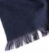 Navy Herringbone Wool Cashmere Scarf Product Thumbnail 2