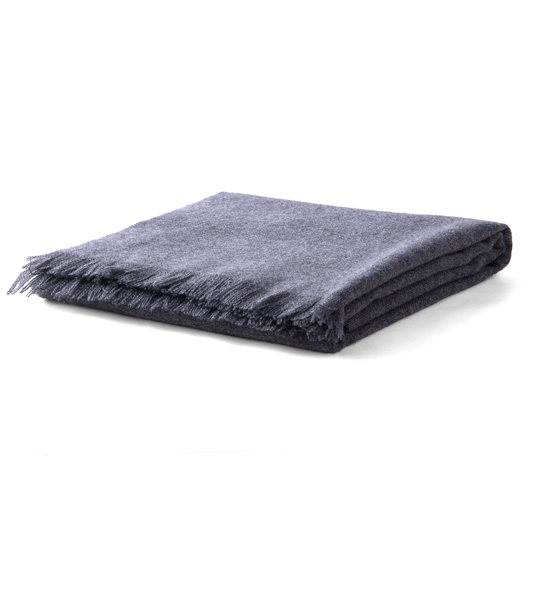 Zoom Image of Grey Thick Cashmere Scarf