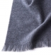 Zoom Thumb Image 1 of Grey Thick Cashmere Scarf