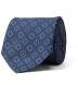 Zoom Thumb Image 2 of Slate Blue Foulard Print Silk Tie
