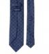 Zoom Thumb Image 3 of Slate Blue Foulard Print Silk Tie