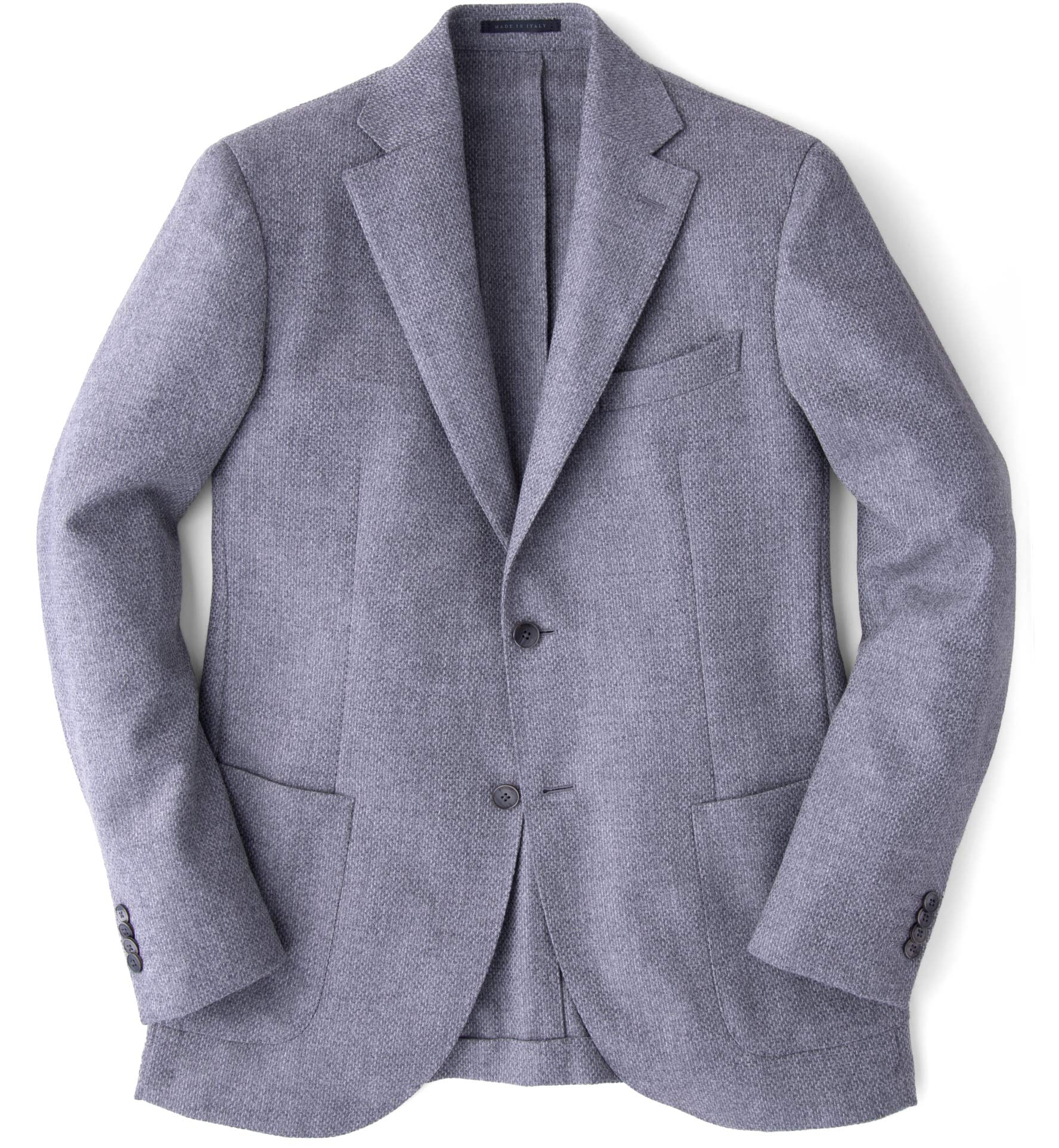 Zoom Image of Genova Grey Wool Cashmere Basketweave Jacket