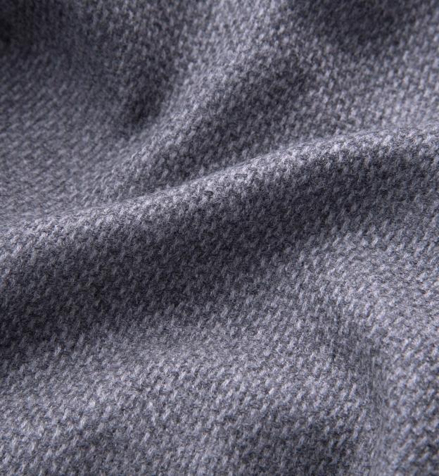 Genova Grey Wool Cashmere Basketweave Jacket