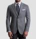 Genova Grey Wool Cashmere Basketweave Jacket Product Thumbnail 5