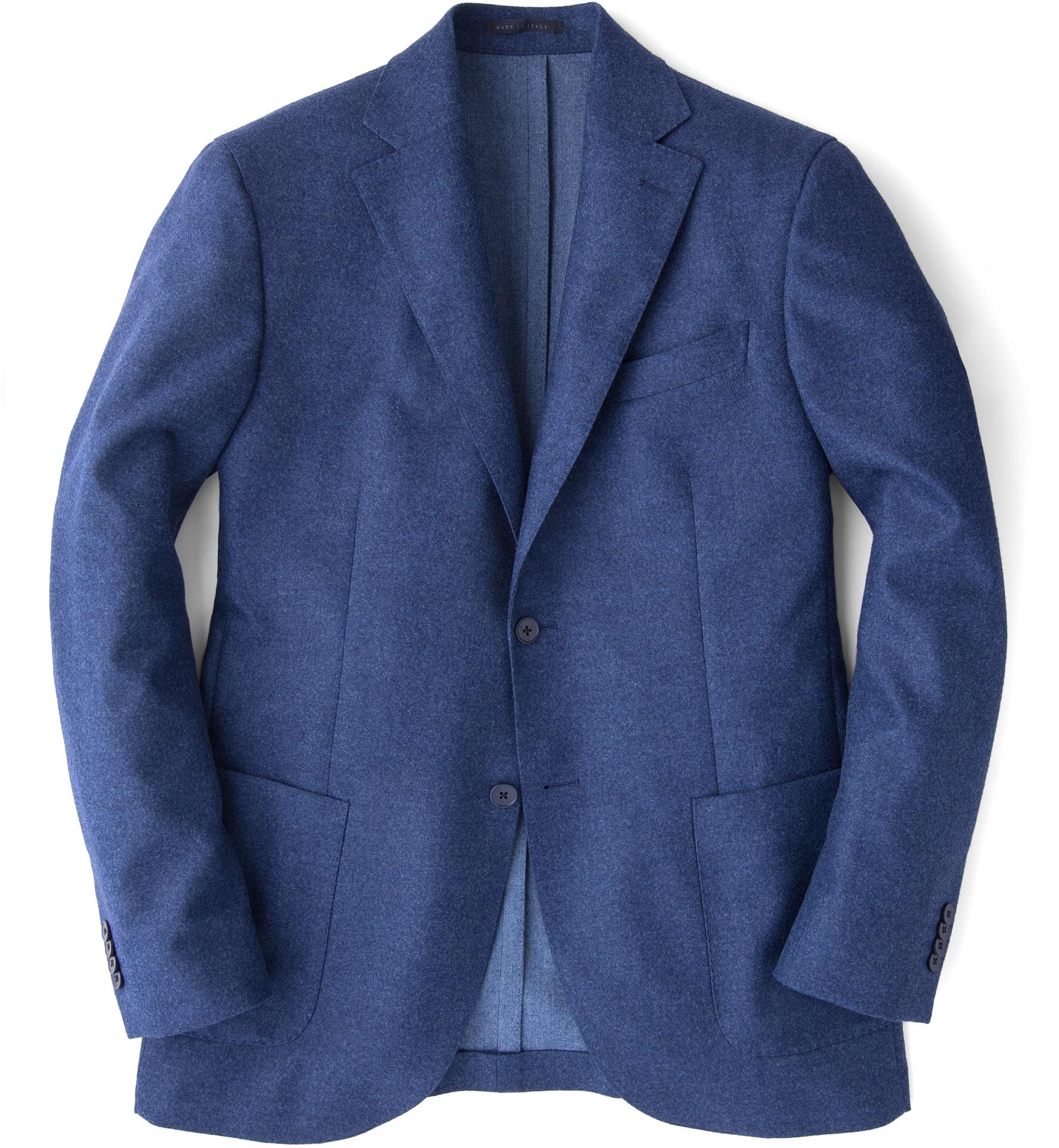 Zoom Image of Genova Melange Blue Wool Jacket