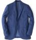Genova Melange Blue Wool Jacket Product Thumbnail 1