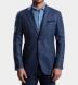 Genova Melange Blue Wool Jacket Product Thumbnail 6