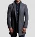 Brera Grey Herringbone Wool Overcoat Product Thumbnail 2