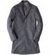 Brera Grey Herringbone Wool Overcoat Product Thumbnail 1