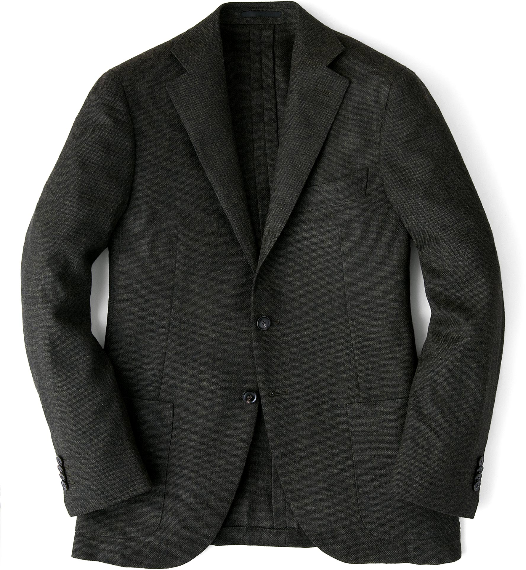 Zoom Image of Forest Wool Cashmere Basketweave Hudson Jacket