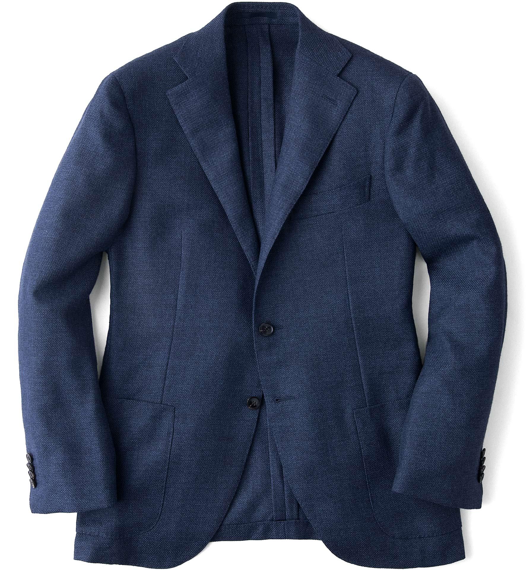 Zoom Image of Ocean Wool Cashmere Basketweave Hudson Jacket