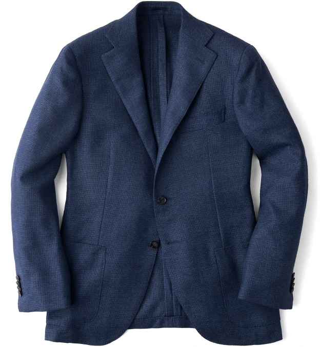 Ocean Wool Cashmere Basketweave Hudson Jacket