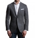 Grey Wool Cashmere Herringbone Hudson Jacket Product Thumbnail 2