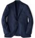 Navy Wool Cashmere Herringbone Hudson Jacket Product Thumbnail 1