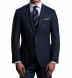 Navy Wool Cashmere Herringbone Hudson Jacket Product Thumbnail 2