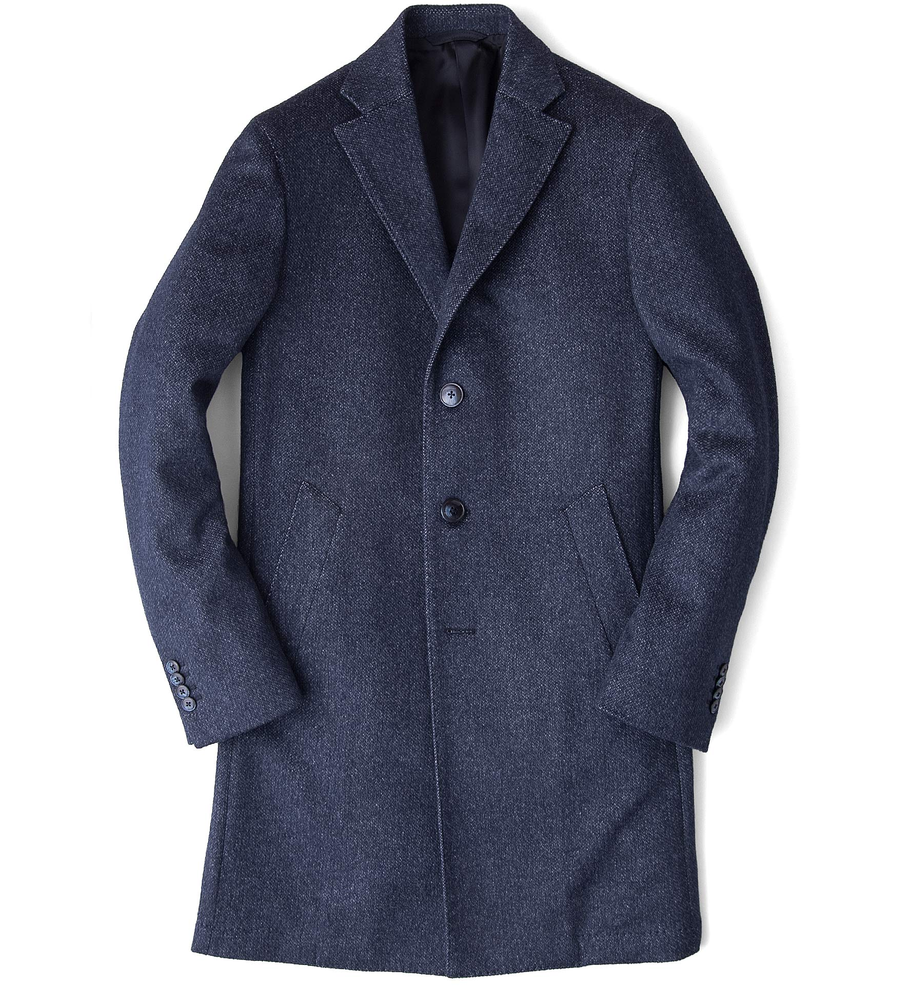 Zoom Image of Brera Slate Blue Wool Overcoat