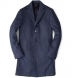 Brera Slate Blue Wool Overcoat Product Thumbnail 1