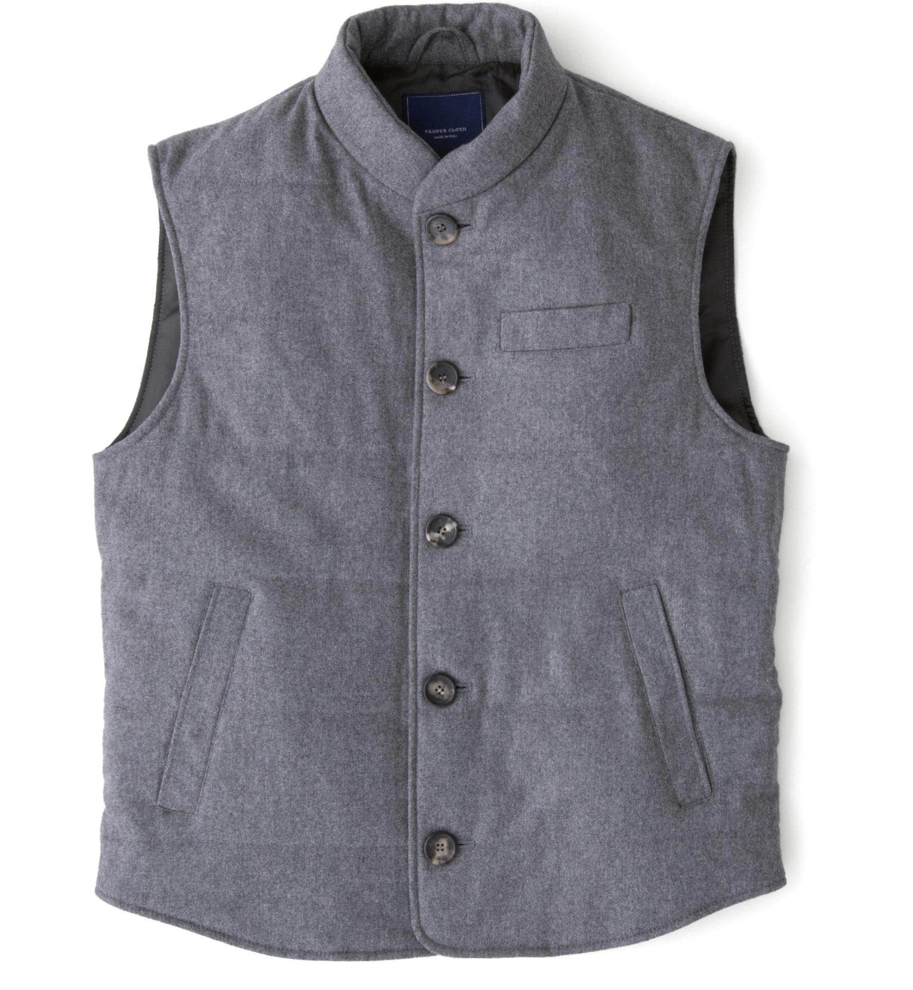 Zoom Image of Light Grey Wool Cortina Vest