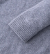 Zoom Thumb Image 3 of Light Grey Cobble Stitch Cashmere V-Neck Sweater