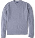 Zoom Thumb Image 5 of Light Grey Cobble Stitch Cashmere V-Neck Sweater