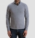 Zoom Thumb Image 4 of Light Grey Cobble Stitch Cashmere V-Neck Sweater