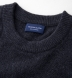 Zoom Thumb Image 1 of Charcoal Cobble Stitch Cashmere Crewneck Sweater