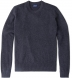 Zoom Thumb Image 5 of Charcoal Cobble Stitch Cashmere Crewneck Sweater