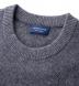 Thumb Image 1 of Grey Cobble Stitch Cashmere Crewneck Sweater