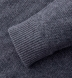 Grey Cobble Stitch Cashmere Crewneck Sweater Product Thumbnail 4