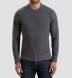 Grey Cobble Stitch Cashmere Crewneck Sweater Product Thumbnail 5
