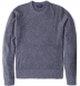 Grey Cobble Stitch Cashmere Crewneck Sweater Product Thumbnail 1