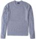 Light Grey Cobble Stitch Cashmere Crewneck Sweater Product Thumbnail 1
