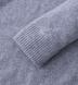 Light Grey Cobble Stitch Cashmere Crewneck Sweater Product Thumbnail 3