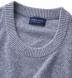 Light Grey Cobble Stitch Cashmere Crewneck Sweater Product Thumbnail 2