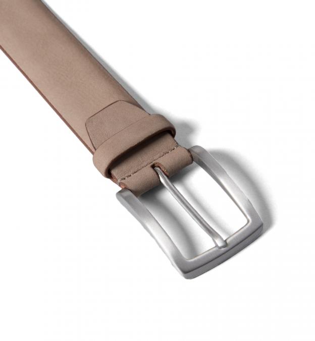 Beige Nubuck Belt