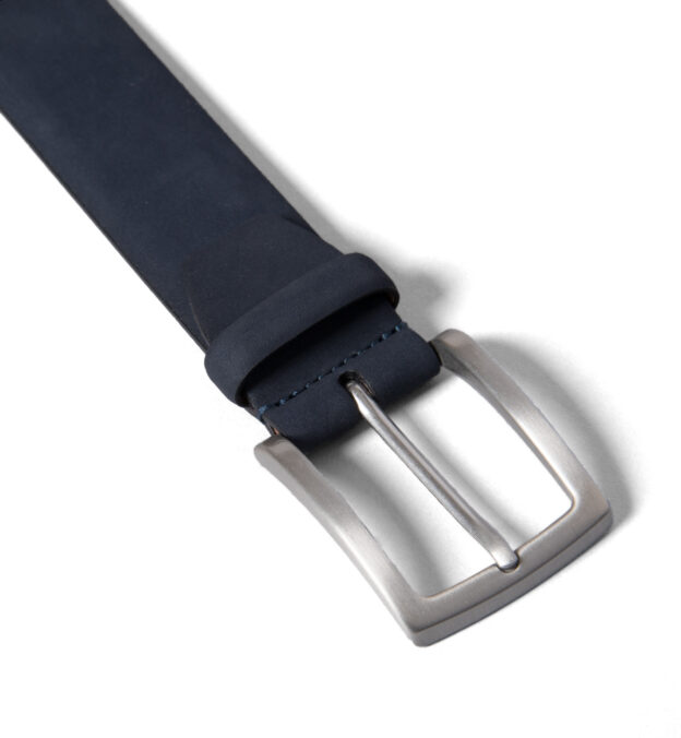 Navy Nubuck Belt