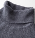 Zoom Thumb Image 2 of Grey Cobble Stitch Cashmere Turtleneck Sweater