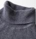 Grey Cobble Stitch Cashmere Turtleneck Sweater Product Thumbnail 3