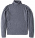 Zoom Thumb Image 5 of Grey Cobble Stitch Cashmere Turtleneck Sweater