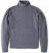 Grey Cobble Stitch Cashmere Turtleneck Sweater Product Thumbnail 1