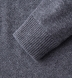 Grey Cobble Stitch Cashmere Turtleneck Sweater Product Thumbnail 2