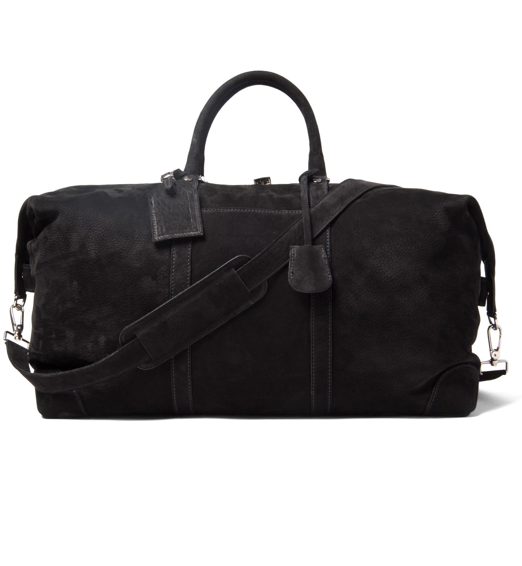 Zoom Image of Italian Black Nubuck Duffle Bag