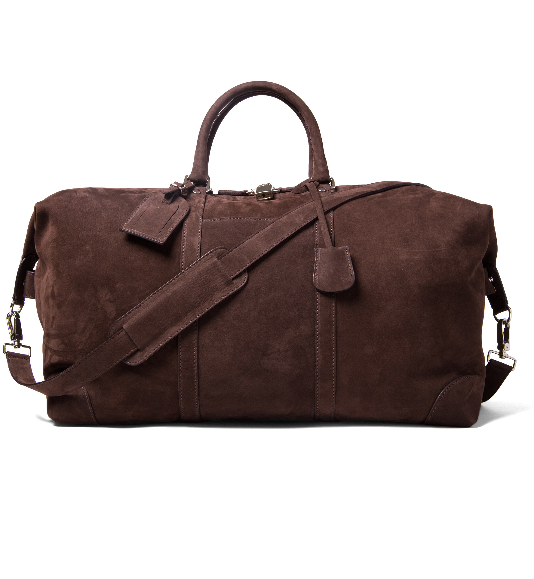Zoom Image of Italian Brown Nubuck Duffle Bag