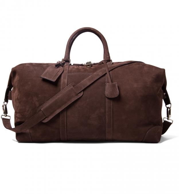Italian Brown Nubuck Duffle Bag