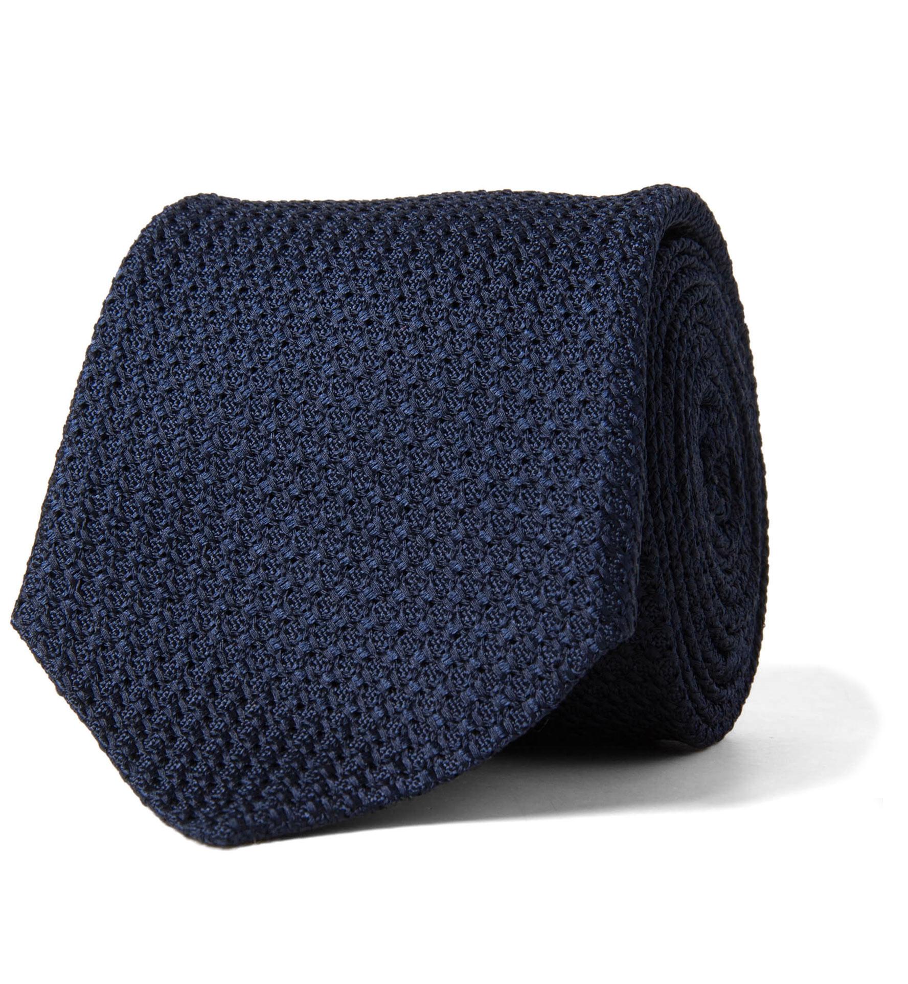 Zoom Image of Navy Silk Grenadine Tie