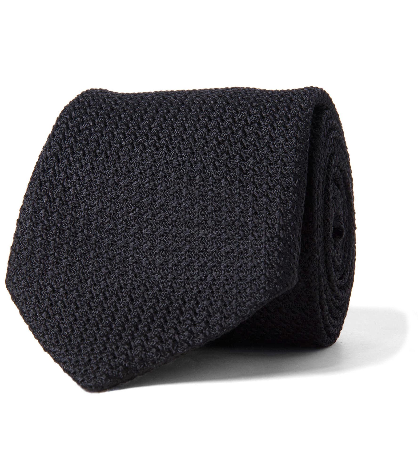 Zoom Image of Black Silk Grenadine Tie