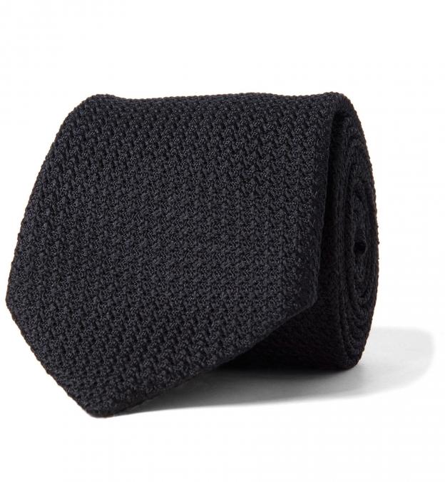 Black Silk Grenadine Tie